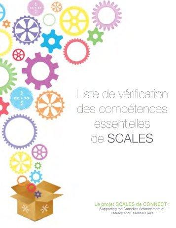 Liste de vérification des compétences essentielles de SCALES