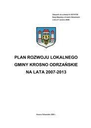 plan rozwoju lokalnego gminy krosno odrzańskie na lata 2007-2013
