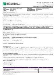 SNOOPY INVERSIONES SICAV 1. Política de ... - BNP Paribas