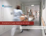 PATIENT CARE SERVICES 2010