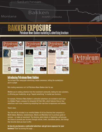 BAKKEN EXPOSURE - for Petroleum News