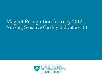 Nursing Sensitive Quality Indicators - Patient Care Services