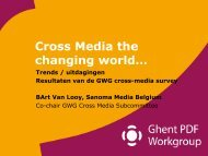 Cross media workflows - Ghent Workgroup