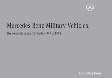 Mercedes-Benz Military Vehicles.