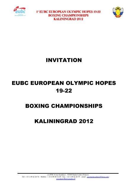 invitation eubc european olympic hopes 19-22 boxing     - IABA