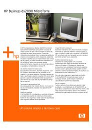 HP Business dx2090 MicroTorre - ITM