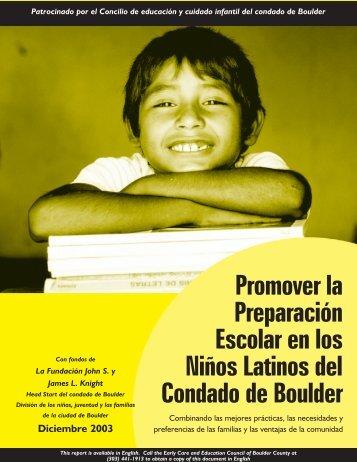 Promover la Preparación Escolar en los Niños Latinos del Condado ...