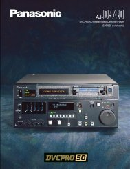 DVCPRO50 Digital Video Cassette Player (525/625 switchable)