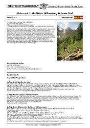 Österreich: Gailtaler Höhenweg & Lesachtal