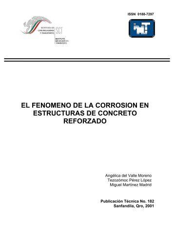 el fenomeno de la corrosion en estructuras de concreto reforzado