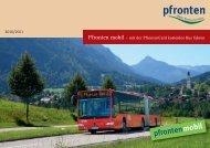 Pfronten mobil – mit der PfrontenCard kostenlos Bus ... - pfronten.de