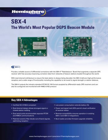 SBX-4 DGPS Beacon Module - Canal Geomatics