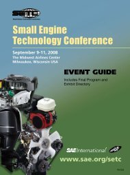 2008 - Small Engine Technology Conference SETC