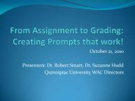 Linking and Scaffolding Assignments - Quinnipiac University