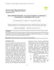 Spectrophotometric analysis of Hibiscus sabdariffa colourant at ...