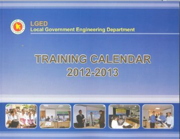 LGED Training Calendar, 2012-13