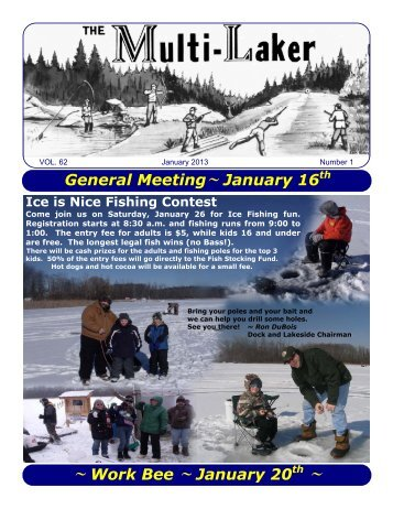 General Meeting~ January 16th ~ Work Bee ... - Multilakes.com