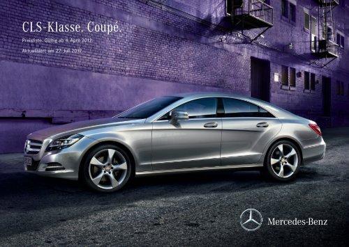 Download Preisliste CLS-Klasse - Mercedes-Benz Deutschland