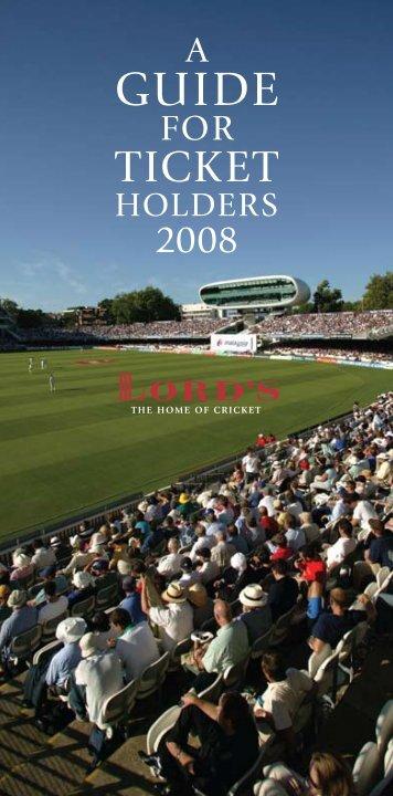 2008 ticket holders'.. - Jules Akel