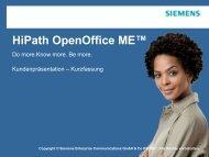 Kundenpräsentation [PDF, 964 KB] - Siemens Enterprise ...