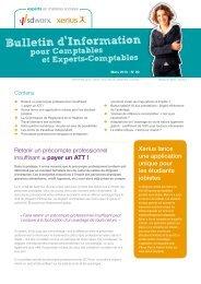 Bulletin d Information - Xerius