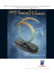2007 Richter Awards Winners Brochure - Institute for Supply ...