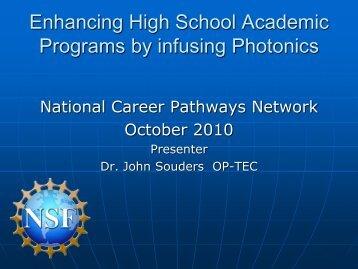 Enhancing High School Academic Programs by Infusing Photonics