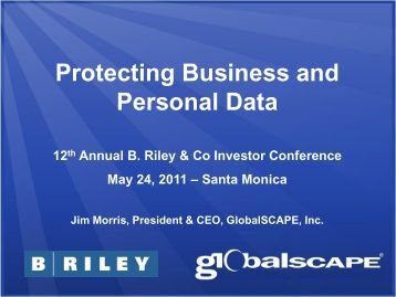 Protecting Business and Personal Data - GlobalSCAPE