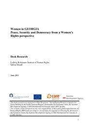 Women in Georgia - Ludwig Boltzmann Institut für Menschenrechte