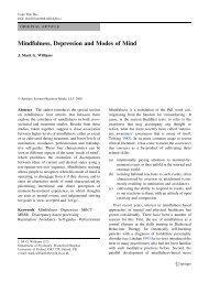 Mindfulness, Depression and Modes of Mind - Oxford Mindfulness ...