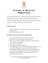 Fitness @ Marriott Membership