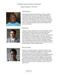 The Skadden, Arps Honors Program in Legal Studies Scholars ...