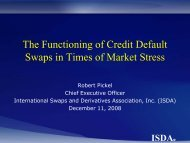 The Functioning of Credit Default Swaps in Times of Market ... - ISDA
