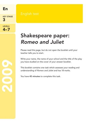 Thesis Paper On Romeo And Juliet Gcse English Essay Help Romeo Juliet Yahoo  Answers All About