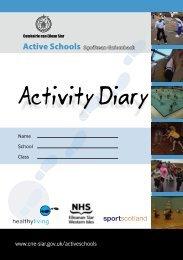 Activity Diary.indd - Comhairle nan Eilean Siar
