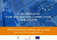 PRACE hardware, software and services - Prace Training Portal