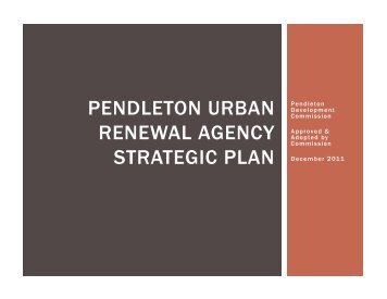 Urban Renewal Agency Strategic Plan, 2011-2012