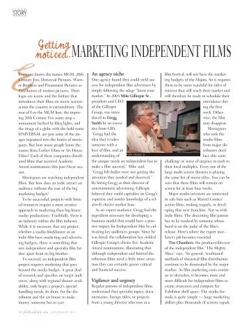 noticed.MARKETING INDEPENDENT FILMS - Philly Ad Club