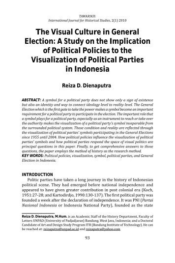 The Visual Culture in General Election: A Study ... - Tawarikh Journal
