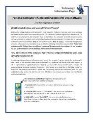 Personal Computer (PC) Desktop/Laptop Anti-Virus Software