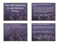 AIDS epidemic in sub-Saharan Africa - Public Health and Social ...