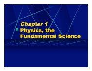 Chapter 1 Physics the Fundamental Science - Oswego