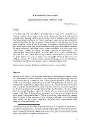 "A chamada ""nova classe média"": Cultura material ... - IFCS - UFRJ"
