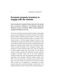 European property investors reengage with the ... - Union Investment