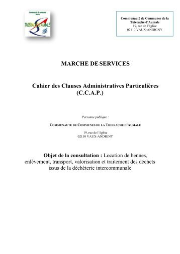 CCAP CCTA.pdf - La Communauté de Communes de la Thiérache ...