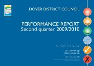 Performance Report 2009, 2nd quarter - Dover District Council