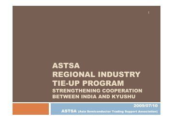 astsa regional industry tie-up program - india electronics ...
