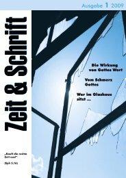 Heft 1/2009 - Zeit & Schrift