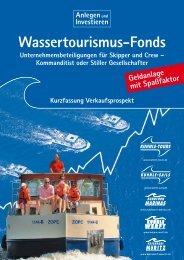 Kurzfassung: Wassertourismus-Fonds - Kuhnle-Tours