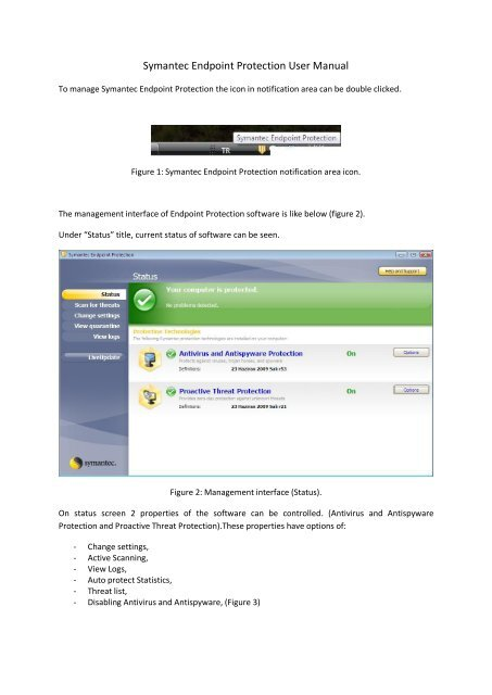Symantec Endpoint Protection User Manual - Security WEB Page